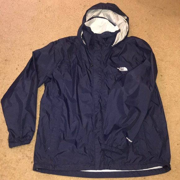 79a5bd811 Mens The North Face Hyvent Rain Jacket Blue Large